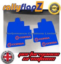 CORSA C (2000-2007) BLUE MUDFLAPS KIT (Logo Orange)